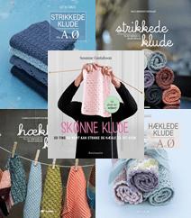 Strikkede og hæklede klude – 5 bøger med strikkeopskrifter og hækleopskrifter på karklude, klude og håndklæder