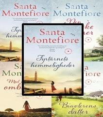 Fyrtårnets hemmeligheder, Den franske gartner, Mød mig under ombutræet og Biavlerens datter af Santa Montefiore